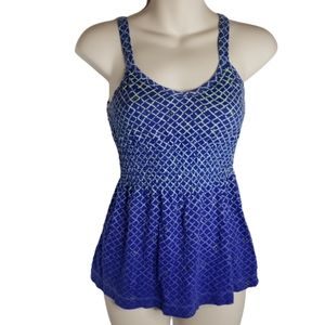 Hurley XS Strappy Back Blue Tank Top